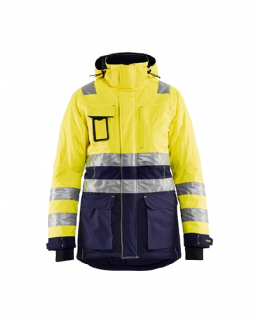Blaklader 4472 Ladies High Vis Winter Parka (Yellow/Navy Blue)